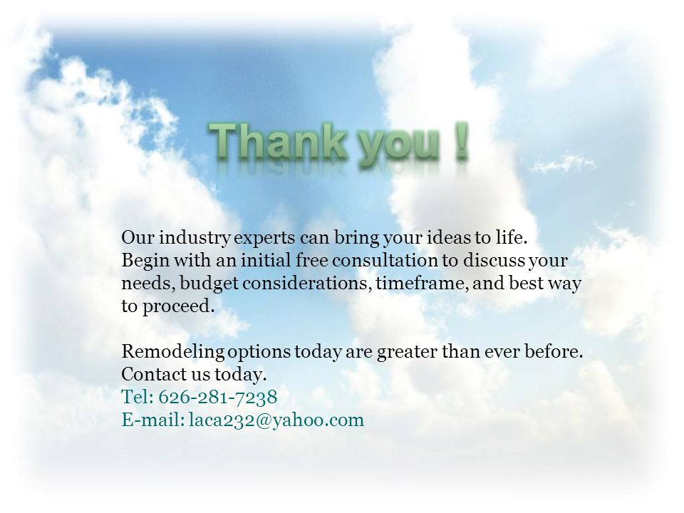Our industry experts can bring your ideas to life.