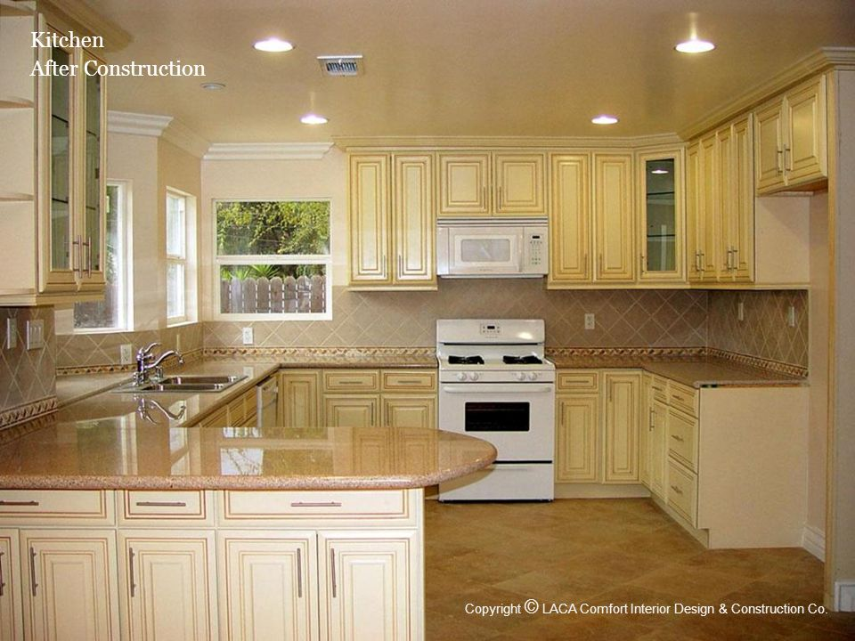 Kitchen After Construction Copyright © LACA Comfort Interior Design & Construction Co.