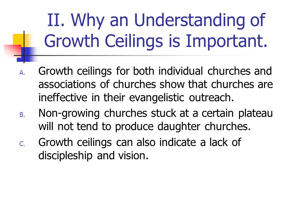 II. Why an Understanding of Growth Ceilings is Important.