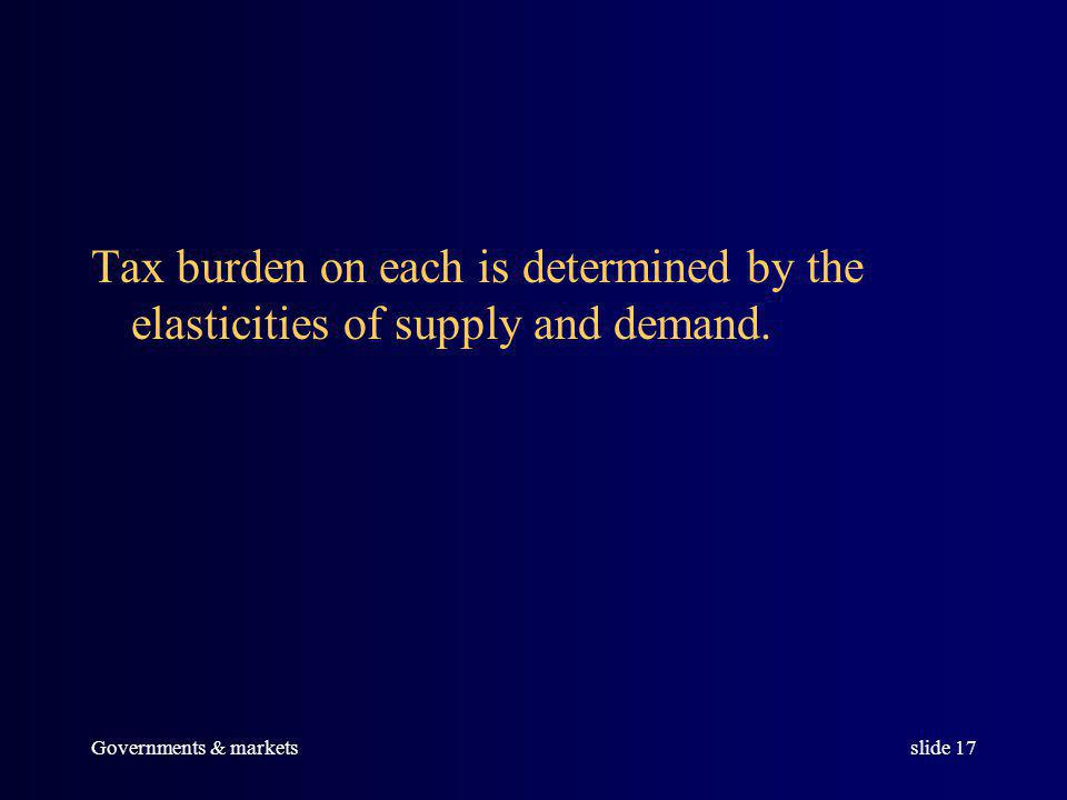 Governments & marketsslide 16 The burden can be exactly measured.
