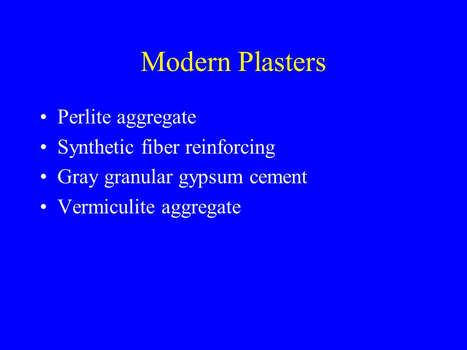 Modern Plasters Perlite aggregate Synthetic fiber reinforcing Gray granular gypsum cement Vermiculite aggregate