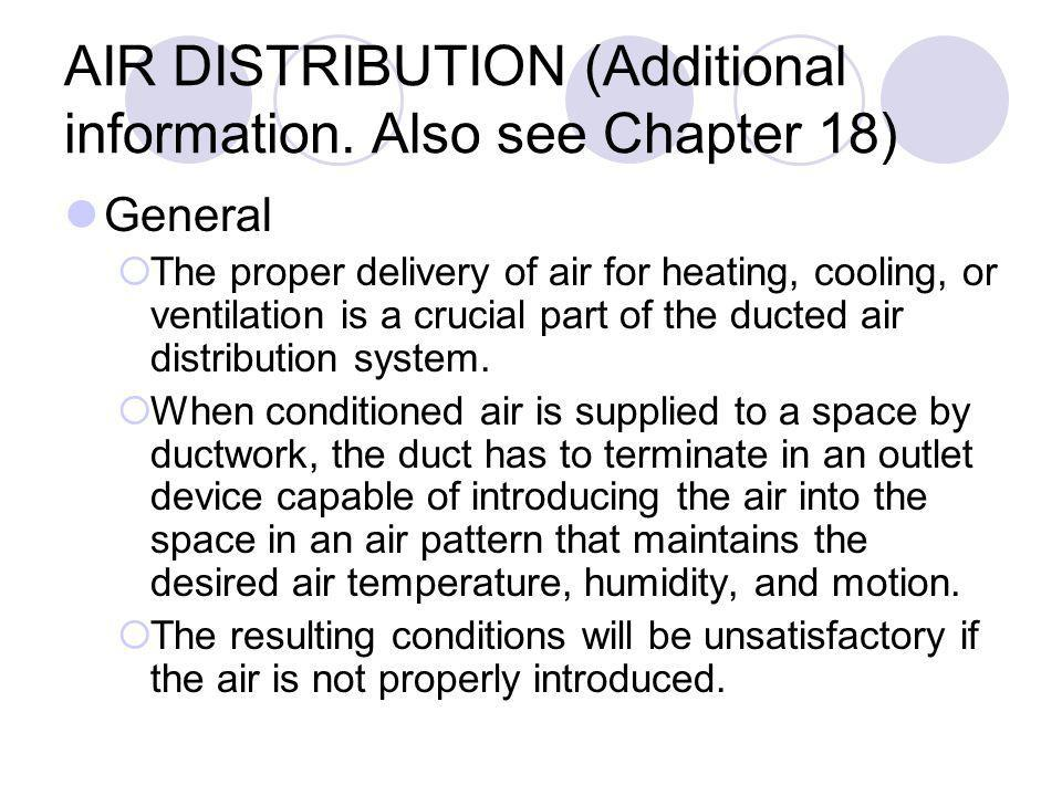 AIR DISTRIBUTION (Additional information.