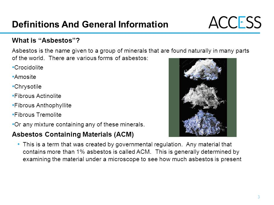 3 Slide 3 Definitions And General Information What is Asbestos.