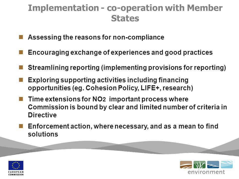 Assessing the reasons for non-compliance Encouraging exchange of experiences and good practices Streamlining reporting (implementing provisions for reporting) Exploring supporting activities including financing opportunities (eg.