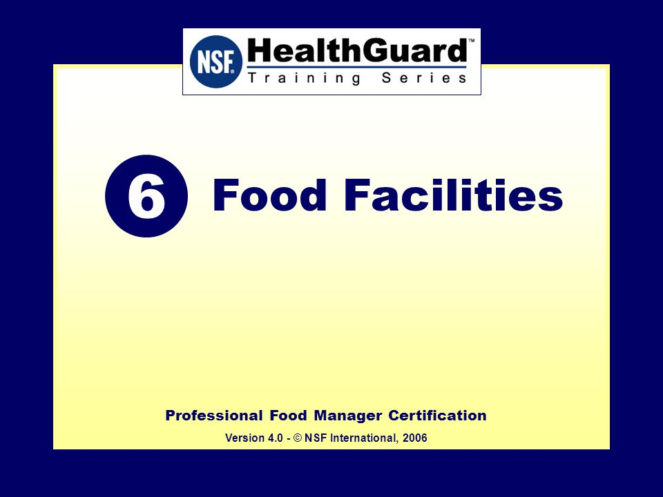 Professional Food Manager Certification Version Nsf International