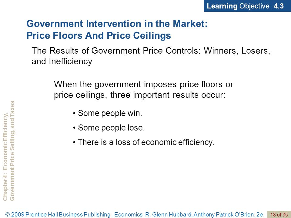 Chapter 4: Economic Efficiency,Government Price Setting, and Taxes 18 of 35 © 2009 Prentice Hall Business Publishing Economics R.