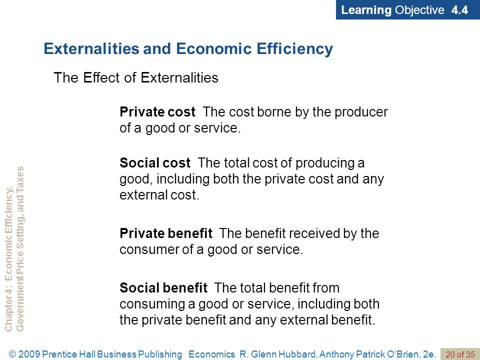 Chapter 4: Economic Efficiency,Government Price Setting, and Taxes 20 of 35 © 2009 Prentice Hall Business Publishing Economics R.