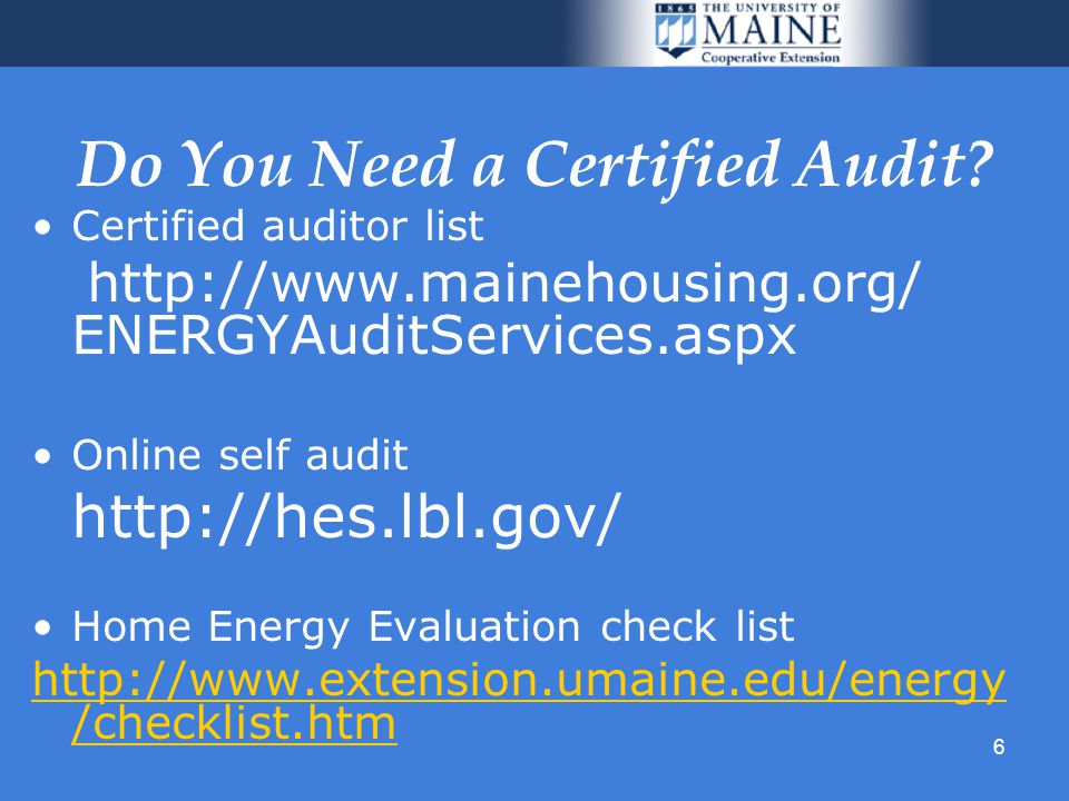 6 Do You Need a Certified Audit.
