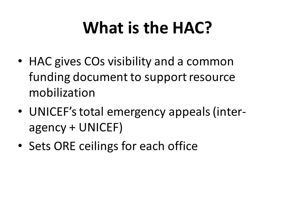 What is the HAC.