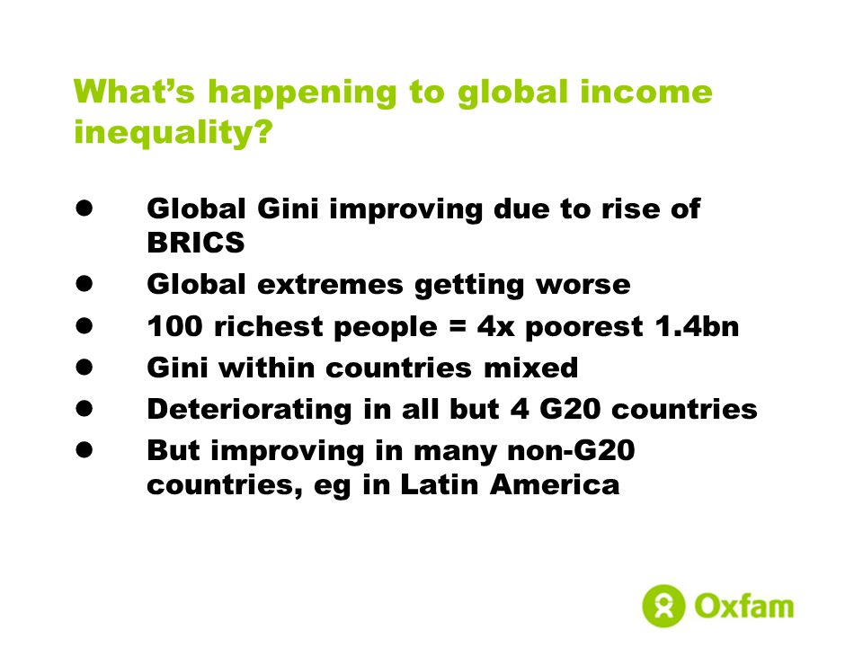 Whats happening to global income inequality.