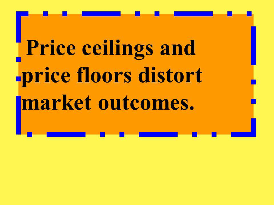 Price ceilings and price floors distort market outcomes.