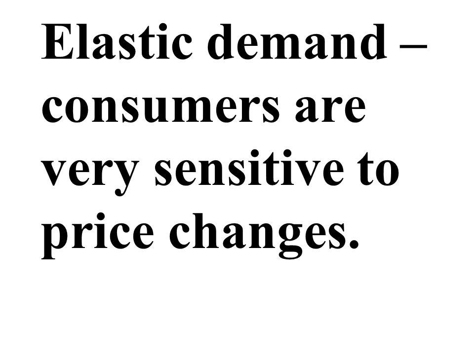 Elastic demand – consumers are very sensitive to price changes.