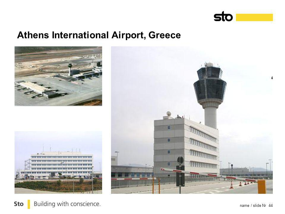name / slide Nr 44 Athens International Airport, Greece