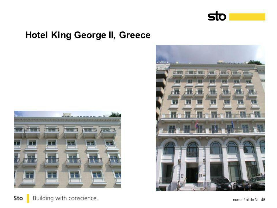 name / slide Nr 46 Hotel King George II, Greece