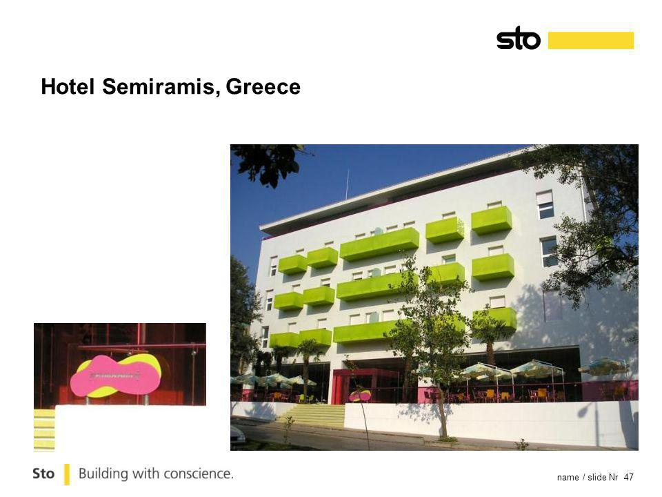 name / slide Nr 47 Hotel Semiramis, Greece