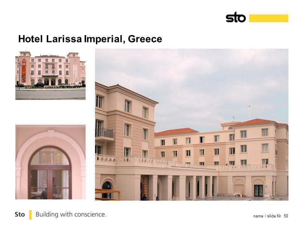 name / slide Nr 50 Hotel Larissa Imperial, Greece