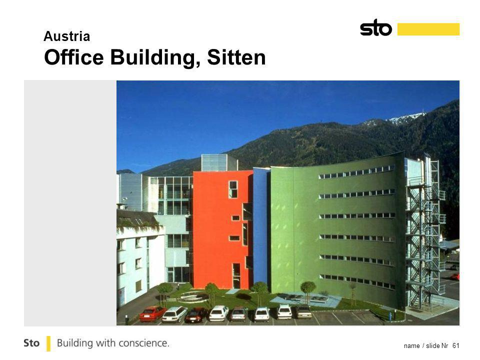name / slide Nr 61 Austria Office Building, Sitten
