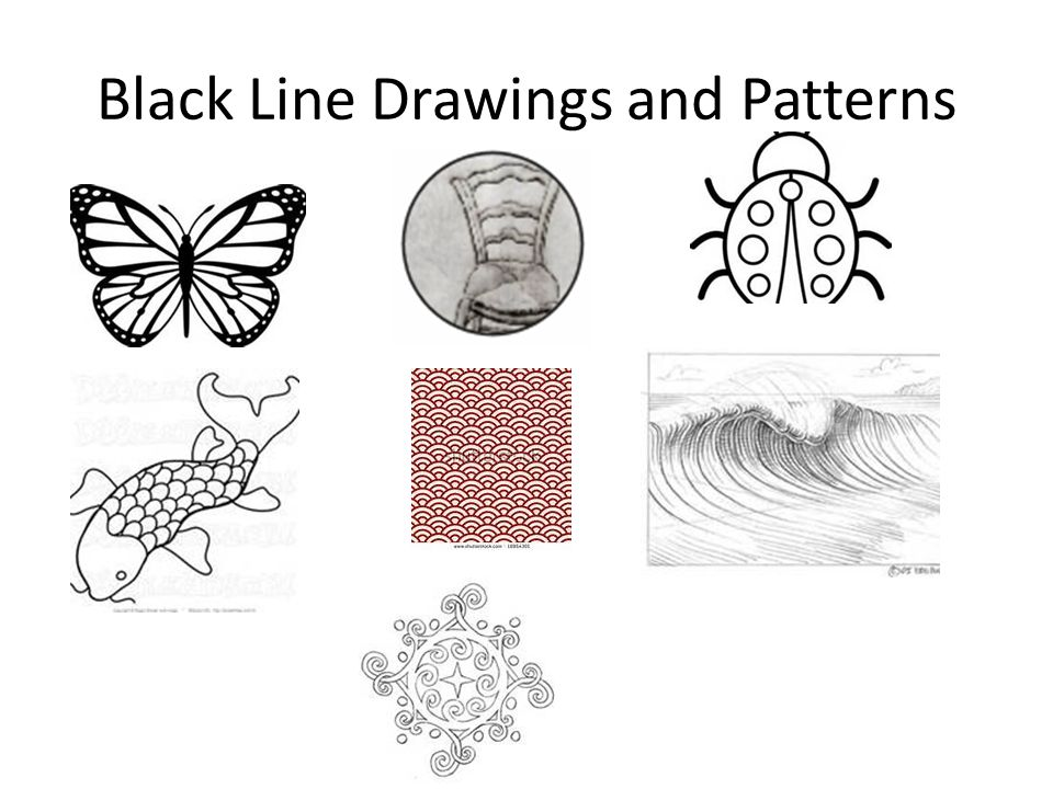Black Line Drawings and Patterns