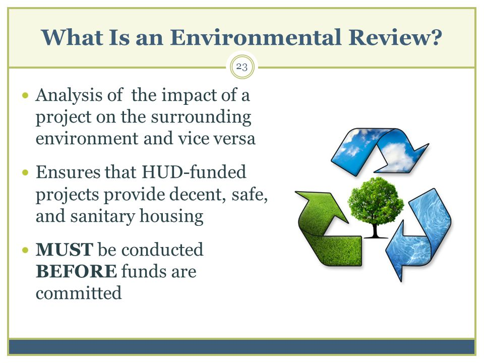 What Is an Environmental Review.