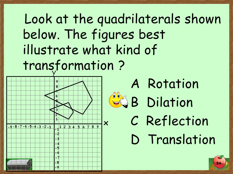 34 Look at the quadrilaterals shown below.