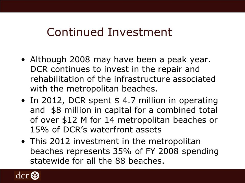 Continued Investment Although 2008 may have been a peak year.
