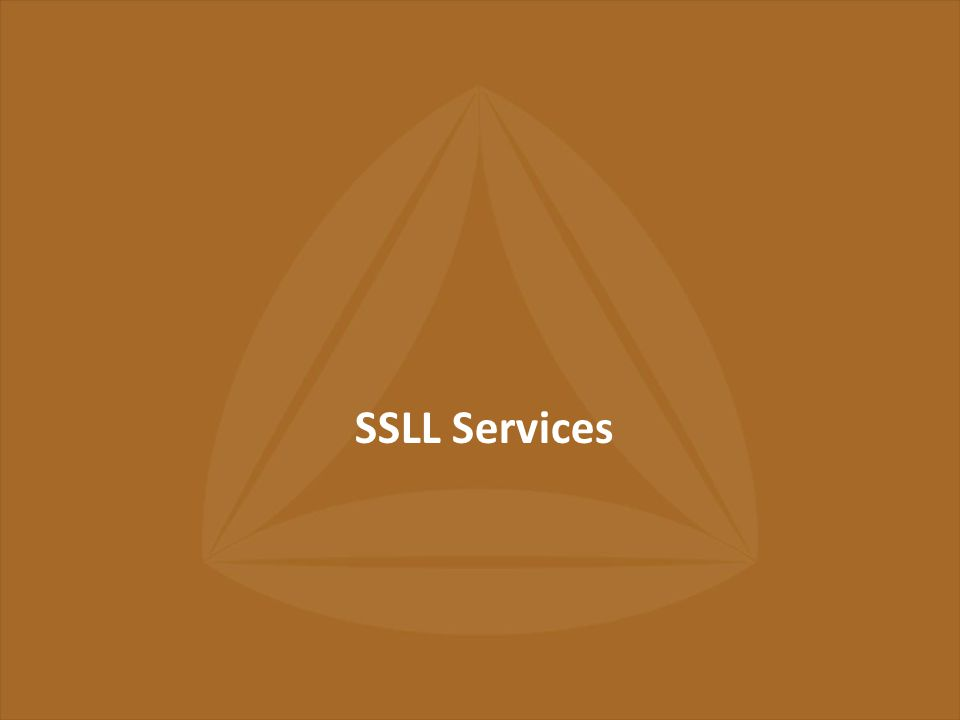 22 nd March, 2013 Page No. : 5 SSLL Services