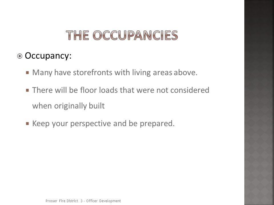 Occupancy: Many have storefronts with living areas above.