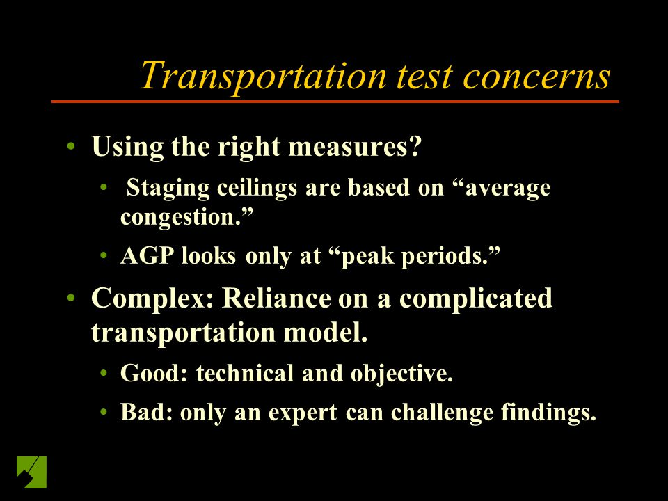 Transportation test concerns Using the right measures.