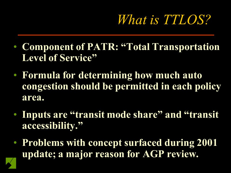 What is TTLOS.