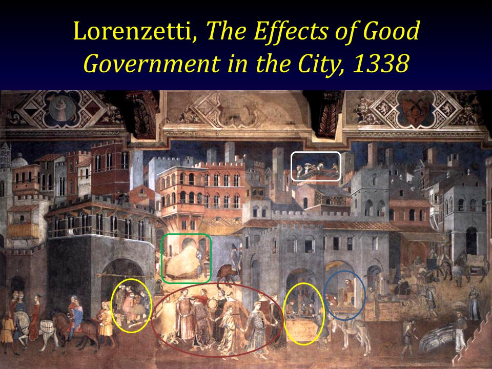 Lorenzetti, The Effects of Good Government in the City, 1338