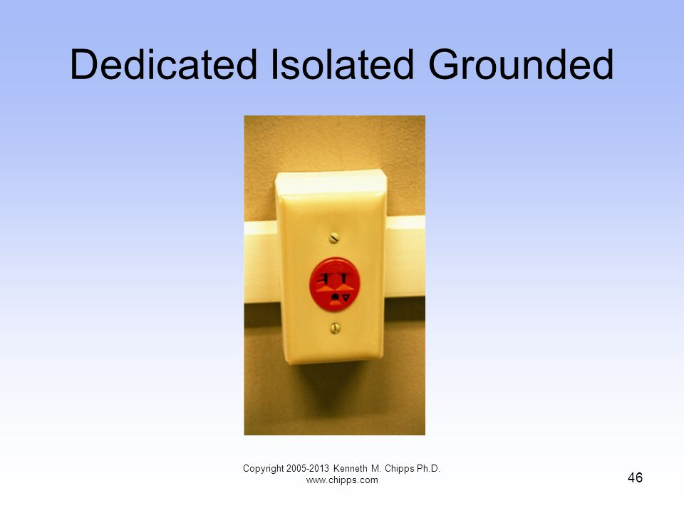 Dedicated Isolated Grounded 46 Copyright 2005-2013 Kenneth M. Chipps Ph.D. www.chipps.com