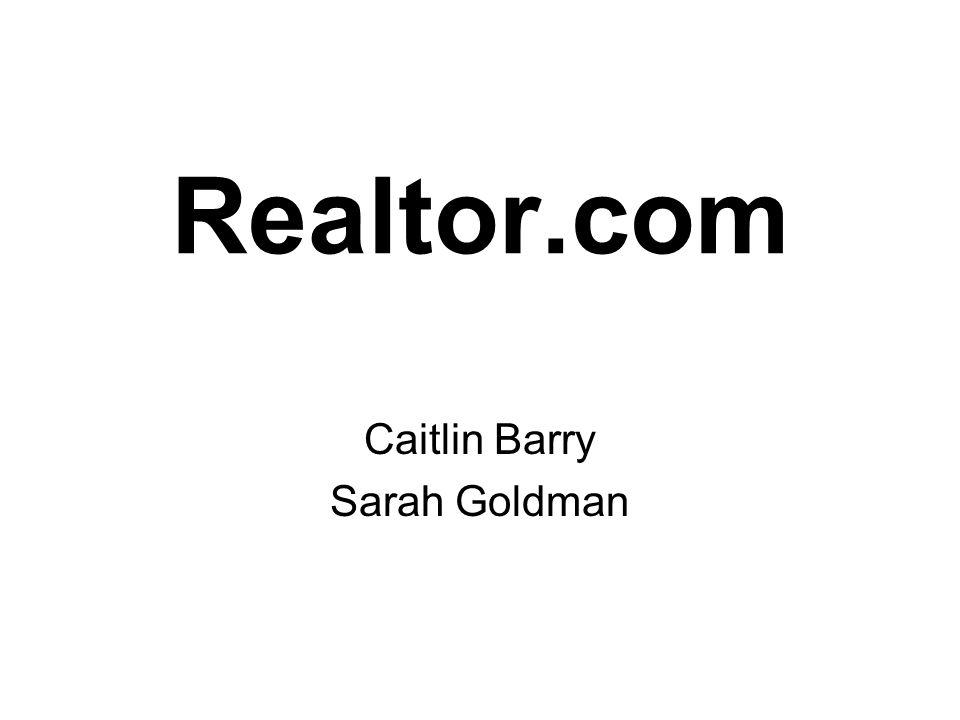 Realtor.com Caitlin Barry Sarah Goldman