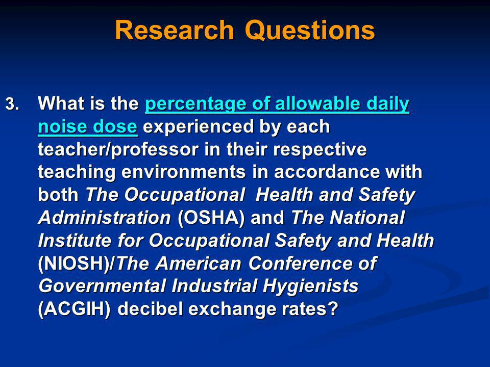 Research Questions 3.