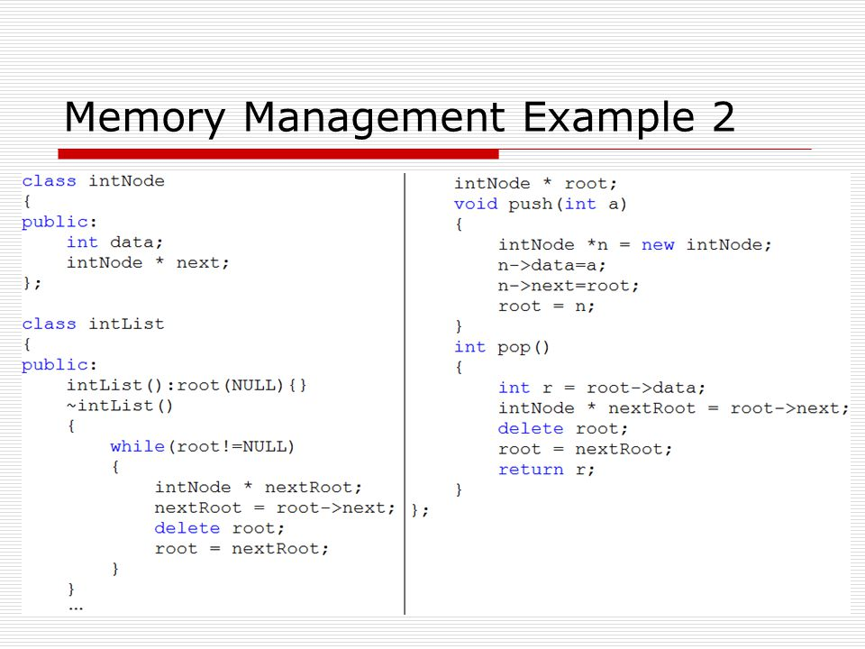 Memory Management Example 2