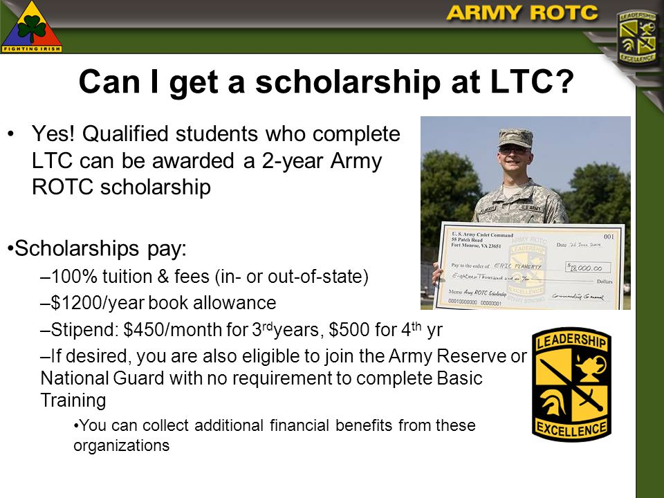Can I get a scholarship at LTC. Yes.