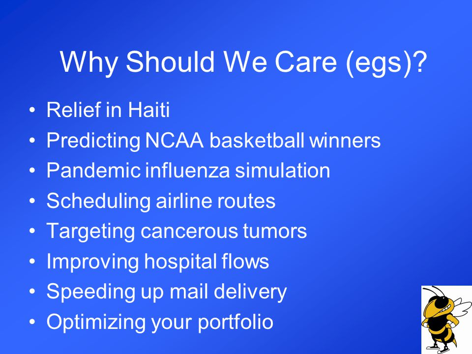 Why Should We Care (egs).