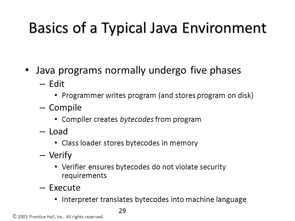 28 History of Java (continued) To make a long story short, people at Sun decided to use this new language for the web.