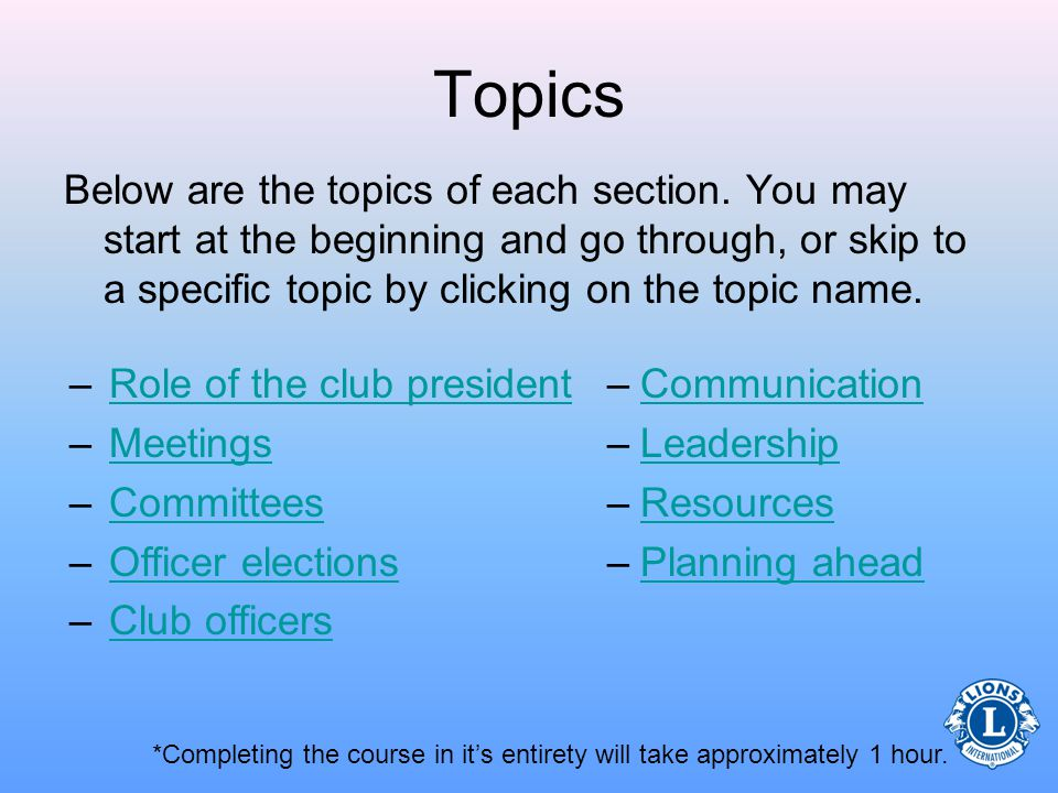 Club President Role, Duties, and Responsibilities  - ppt download