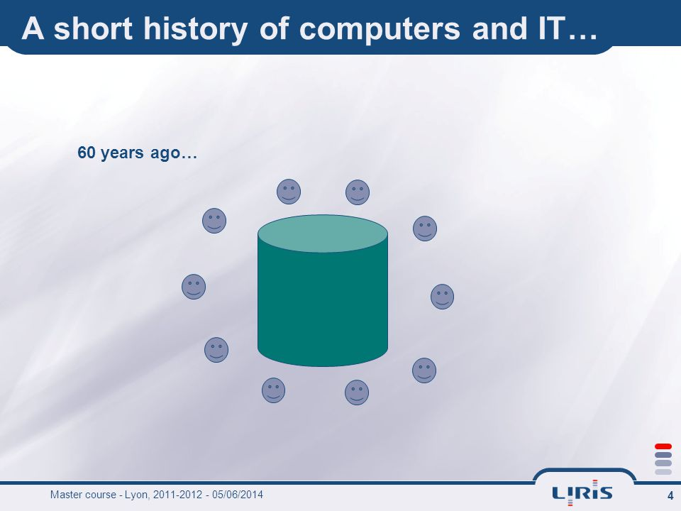 4 A short history of computers and IT… 60 years ago…