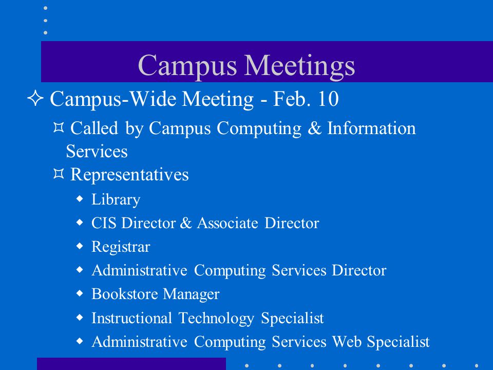 Campus Meetings Campus-Wide Meeting - Feb.