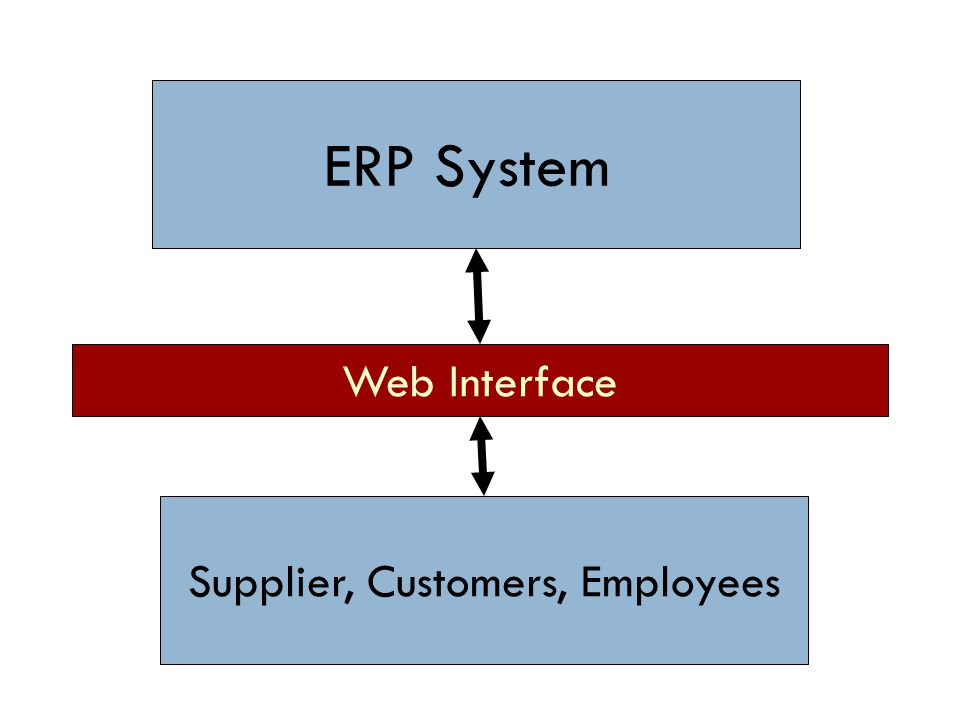 ERP System Supplier, Customers, Employees Web Interface