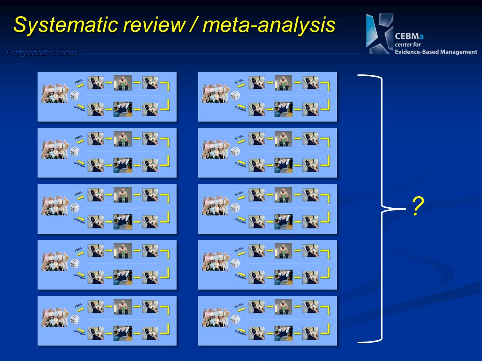 Postgraduate Course Systematic review / meta-analysis
