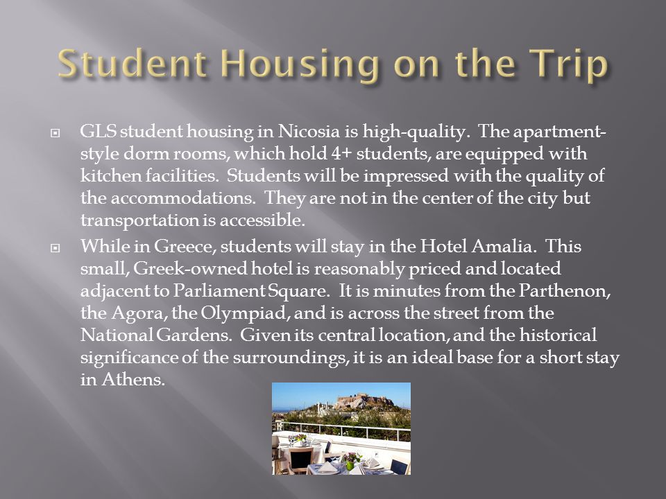 GLS student housing in Nicosia is high-quality.
