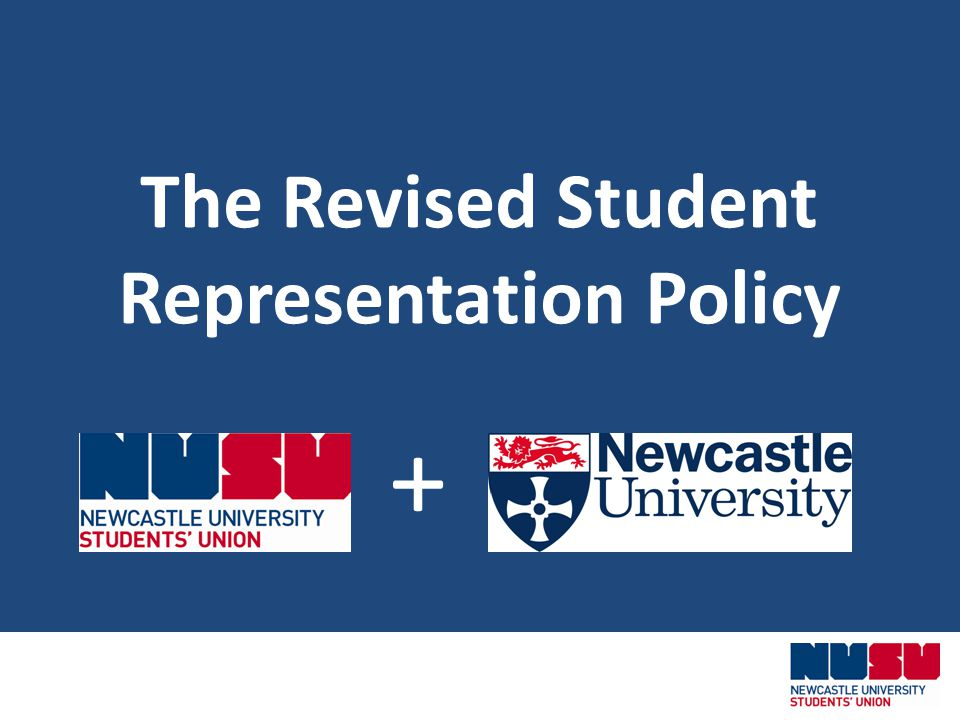 The Revised Student Representation Policy +