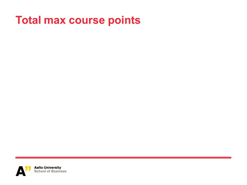 Total max course points