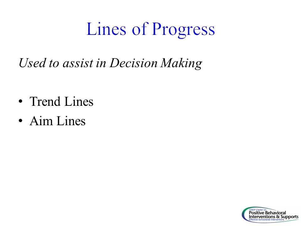 Used to assist in Decision Making Trend Lines Aim Lines