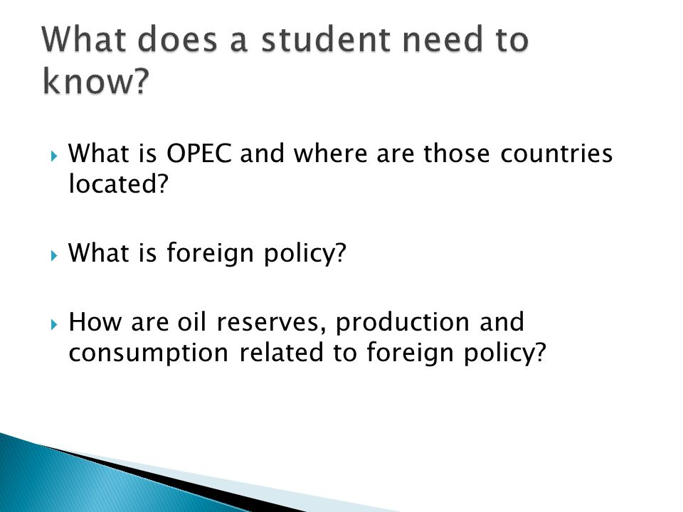 What is OPEC and where are those countries located.