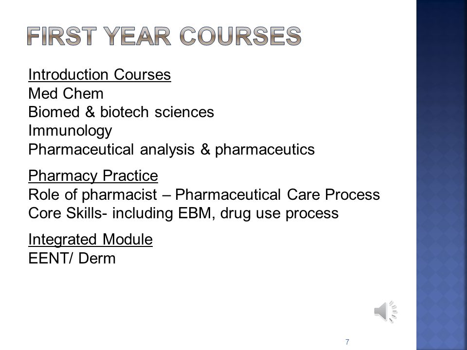 Pharm 305: What is it. Why first year.