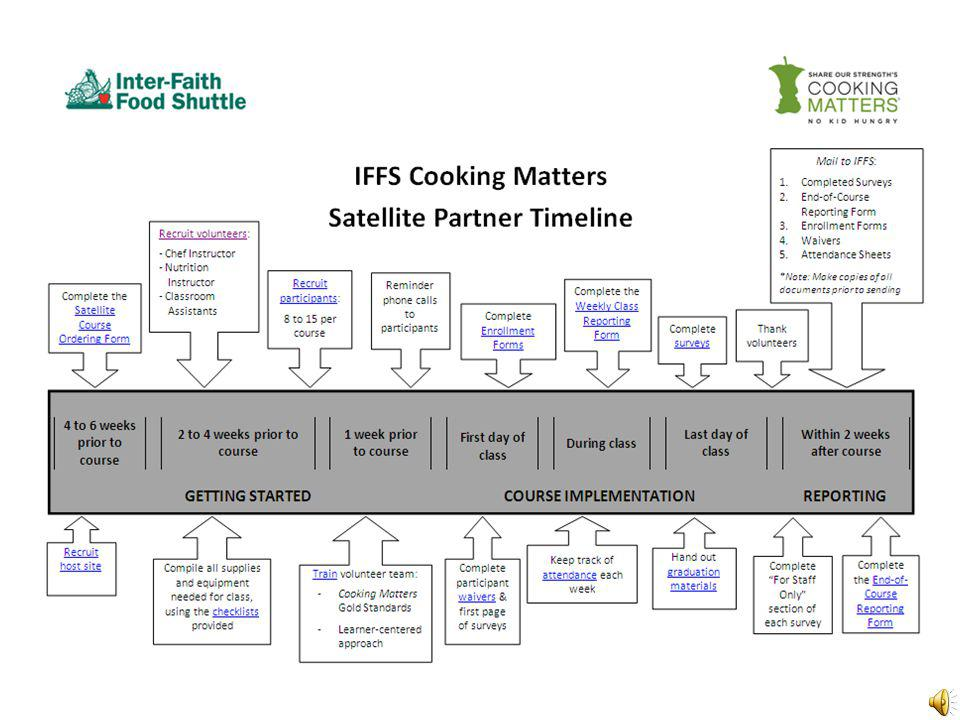 Satellite Partner Timeline