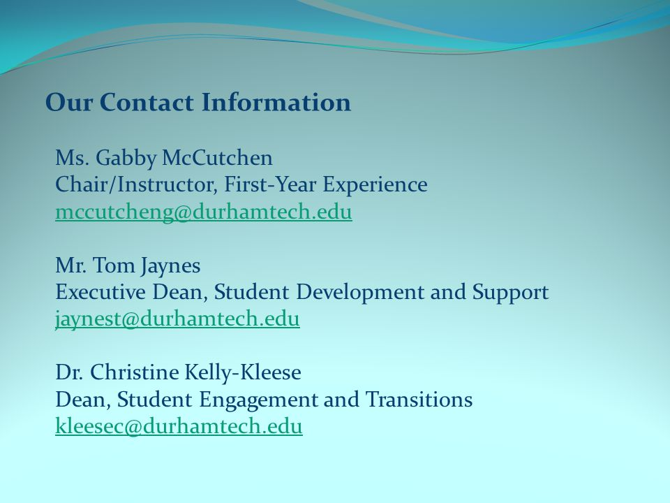 Our Contact Information Ms.